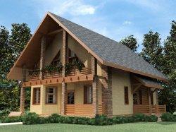 Двосхилий дах - найпоширеніша форма даху