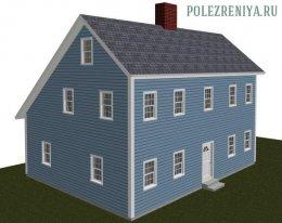 Цікавий дизайн даху будинку Saltbox