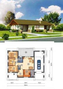 Як побудувати будинок дешево - недорого.  Фасад і план будинку