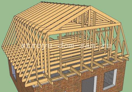 Как сделать крышу дома своими руками ломаная крыша 158
