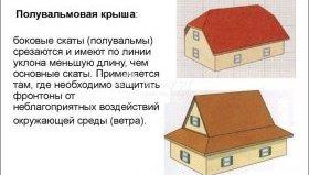Конструкція вальмового даху з фронтонами