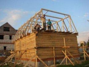 Монтаж кроквяної системи мансардного даху.  Монтаж кроквяної системи