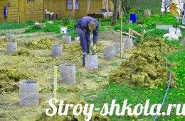 Процес створення опалубки з цементних труб