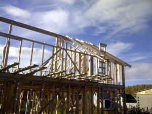 Будівництво каркасного будинку на УШП.  Дах.  будинок, Своїми руками, не будівельник, дліннопост, каркасний будинок