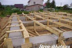 Заливка (бетонування) свайно-стрічкового фундаменту